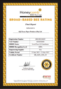GQ Tissues Bee Certificate